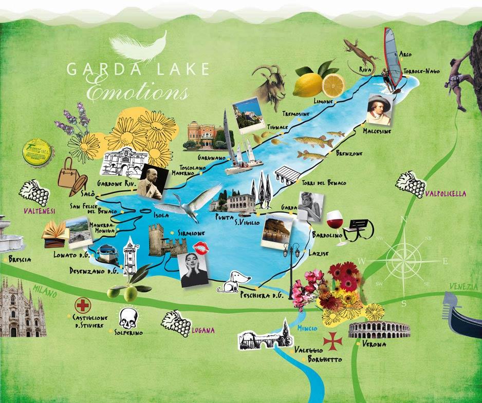 gardasee karte sehenswürdigkeiten Sehenswürdigkeiten am Gardasee: Touren zur Entdeckung des Gardasees